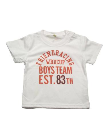 Ropa para bebe Camiseta manga corta letras bebé niño