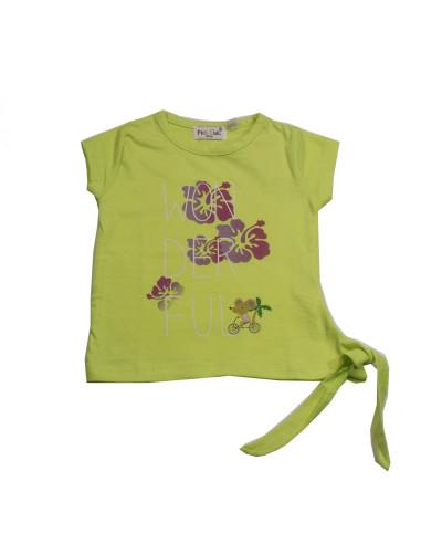 Comprar ropa bebe Camiseta manga corta nudo bebé niña